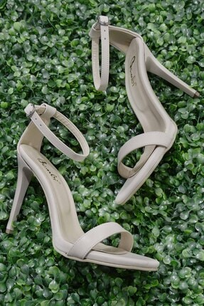 Bambi Bej Kadın Abiye Ayakkabı K01527007909 0