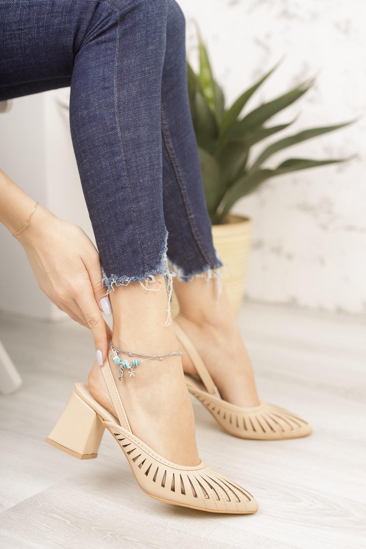 Nut Cilt Kadın Topuklu Ayakkabı Md1042-119-0005