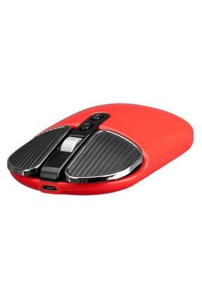Everest Sm-619 Metalik Kırmızı 1600dpi Süper Sessiz Şarjlı Premium Kablosuz Mouse 2