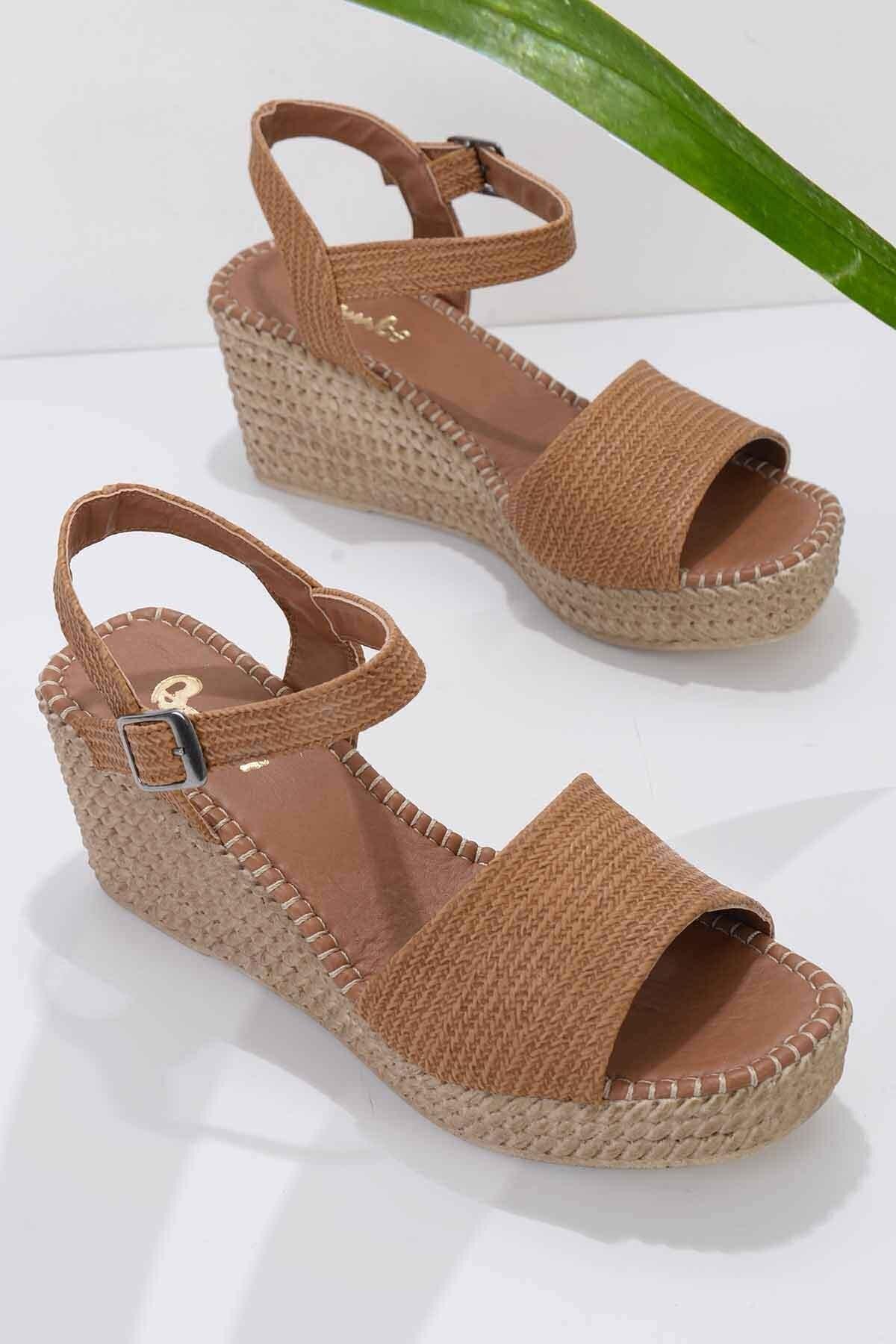 Taba Kadın Dolgu Topuklu Ayakkabı K05688001558