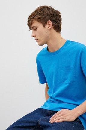 Koton Erkek Mavi T-Shirt 1Yam12317Lk 0