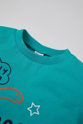 Defacto Erkek Bebek Dinozor Baskılı 2'li Kısa Kol Pamuklu Tişört 3