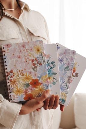 Matt Notebook A5 Süresiz Planlayıcı Ajanda Pembe Çiçekler 1