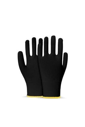 Picture of 1 Çift Siyah Örme Polyester Yıkanabilir Koruyucu Kasiyer Eldiveni