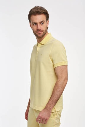 Hemington Erkek Sarı Polo Yaka T-Shirt 3