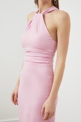 TRENDYOLMİLLA Pudra Yaka Detaylı  Elbise TPRSS21EL1492 2