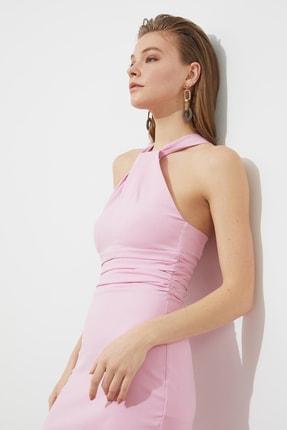 TRENDYOLMİLLA Pudra Yaka Detaylı  Elbise TPRSS21EL1492 3