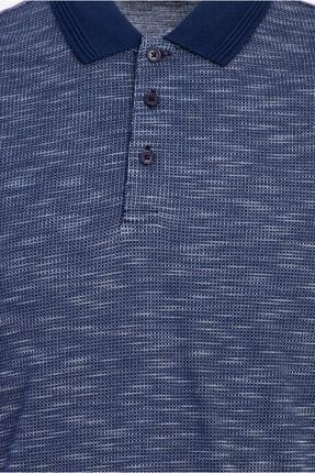 Kiğılı Polo Yaka Desenli Regular Fit Tişört 2