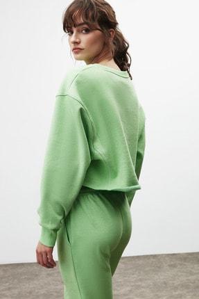 GRIMELANGE CLEMENTINE Kadın Yeşil Renk Yuvarlak Yaka Eşofman Takımı 3