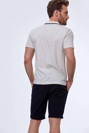 Hemington Erkek Kırık Beyaz Desenli Polo Yaka T-shirt 2