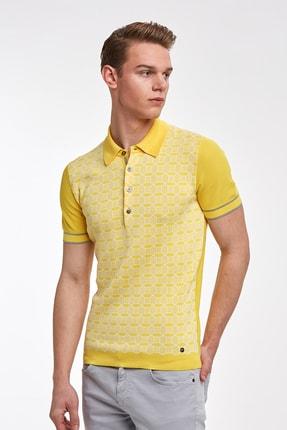 Hemington Sarı Desenli  Pamuk Triko Polo 3