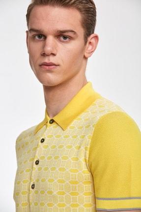 Hemington Sarı Desenli  Pamuk Triko Polo 4