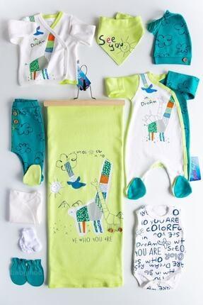 İmaj Erkek Bebek Yeşil Origami Zürafalı Hastane Çıkışı Bebek Takımı 0