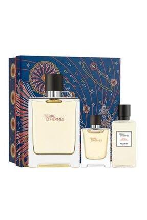 Hermes Terre D' Edt 100 ml  + Mini 12.5 ml Erkek Parfüm ve After Shave Lotion 40 ml 3346131433506 0