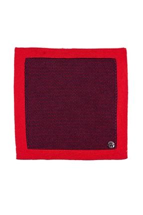 Hemington Erkek Lacivert Kırmızı Mikro Desen Örgü Mendil 2