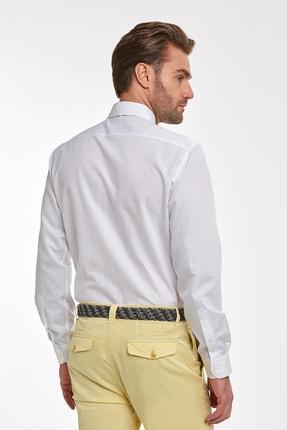 Hemington Çizgili Beyaz Ince Business Gömlek 2