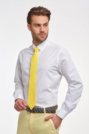 Hemington Çizgili Beyaz Ince Business Gömlek 3
