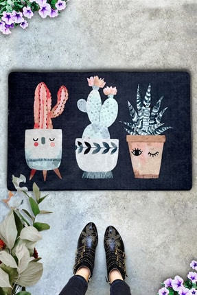 Chilai Home Spina Cactus İç ve Dış Kapı Önü Paspasları,Desenli Paspas 0