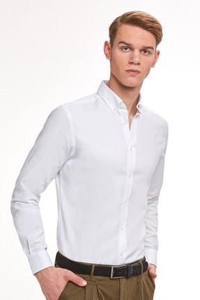 Hemington Erkek Beyaz Oxford Gömlek 0