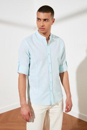 تصویر از پیراهن مردانه سرمه ای