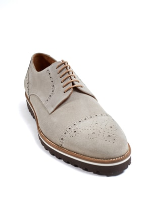 Hemington Erkek  El Yapımı Bej Yazlık Süet Deri Ayakkabı 4