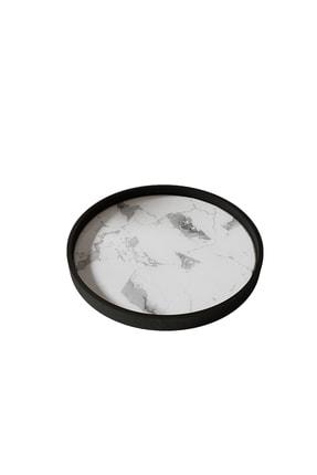 LİLLA HOME Beyaz Mermer Desenli Mutfak Kozmetik Takı Banyo Düzenleyici Organizer 2