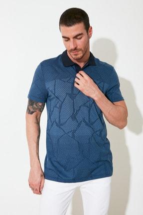 TRENDYOL MAN Mavi Erkek Regular Fit Polo Yaka T-shirt TMNSS21PO0026 4