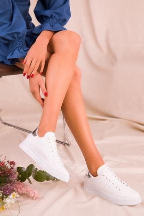 Soho Exclusive Beyaz Gumus Kadın  Sneaker 2