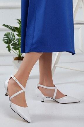 Beyaz Topuklu Ayakkabı 779156