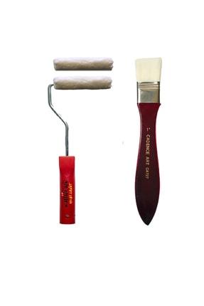 Cadence Boya İz Bırakmayan İpek Fırça Parmak Kadife Rulo Fırça Seti 10cm 0