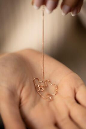 İzla Design Zincir Model Rose Kaplama Gümüş Italyan Bileklik 3