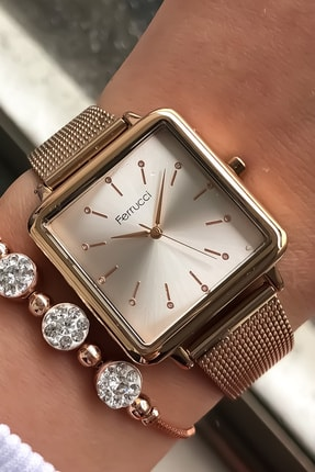 Ferrucci Kadın Kol Saati + Bileklik 0