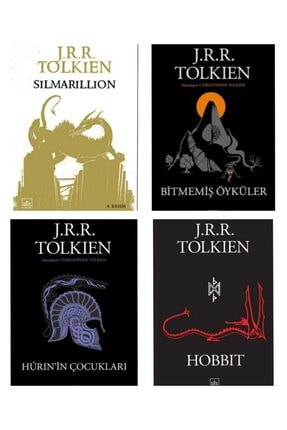 İthaki Yayınları Silmarillion Bitmemiş Öyküler Huri'nin Çocukları Hobbit 0