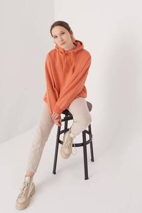 Addax Kadın Kayısı Kapüşonlu Sweatshirt S0519 - P10V1 Adx-0000014040 2