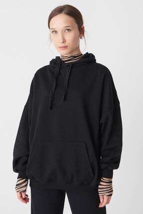 Addax Kadın Siyah Kapüşonlu Sweatshirt S0519 - P10V1 Adx-0000014040 1