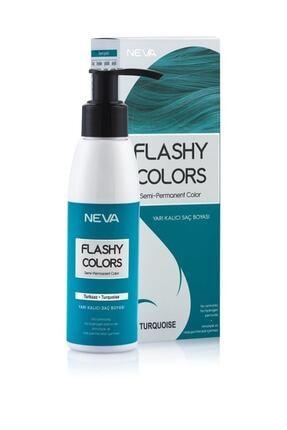 Flashy Colors Neva Yarı Kalıcı Saç Boyası Turkuaz - Turquoise 0