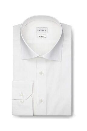 EMNANA Erkek  Beyaz   Buruşmaz Wrinkle Free Slim Fit Gömlek 0