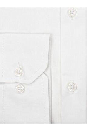 EMNANA Erkek  Beyaz   Buruşmaz Wrinkle Free Slim Fit Gömlek 2