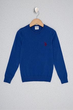 US Polo Assn Mavi Erkek Çocuk Triko Kazak 0