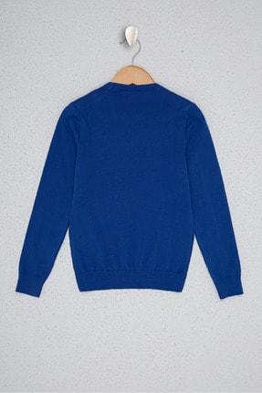 US Polo Assn Mavi Erkek Çocuk Triko Kazak 1