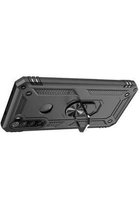 Teknoçeri Xiaomi Redmi  Uyumlu Note 8Yüzüklü Standlı Military Ring Holder Kılıf 2