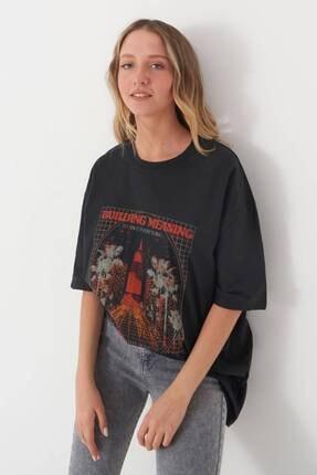 Addax Baskılı T-shirt P9528 - R13 1