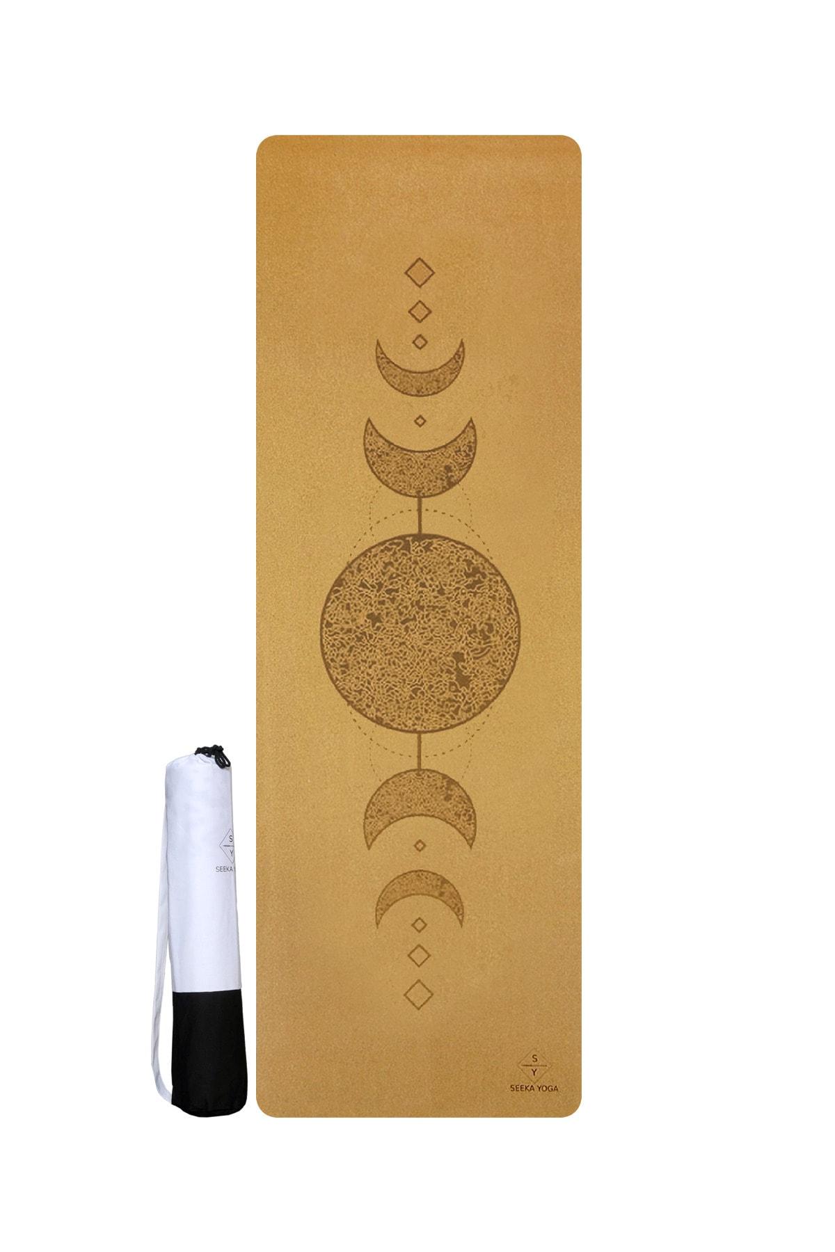Moon Mantar Yüzeyli Doğal Kauçuk Yoga Matı