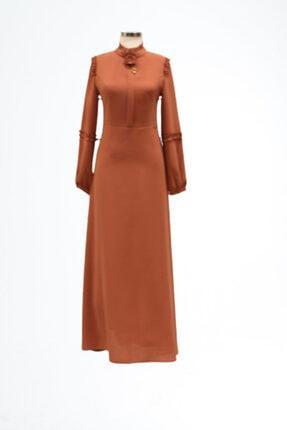 Kadın Kiremit Moda 9153 Elbise
