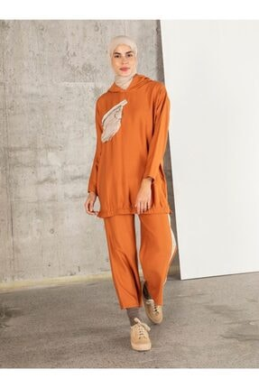 Loreen Kadın Kiremit Tunik Pantolon 2'li Takım 2