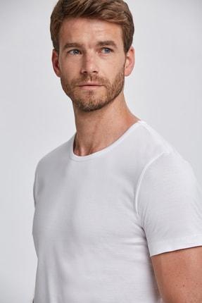 Hemington Beyaz Bisiklet Yaka Basic T-shirt 4