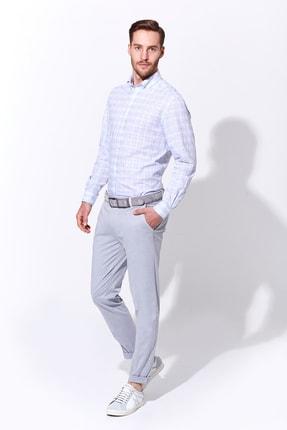 Hemington Mavi Beyaz Desenli Spor Gömlek 1