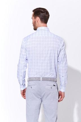 Hemington Mavi Beyaz Desenli Spor Gömlek 2