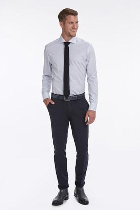 Hemington Mavi Beyaz Çizgili Business Gömlek 1