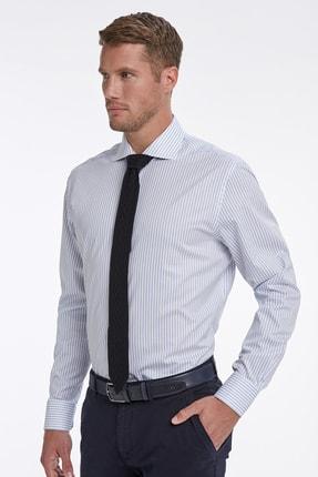 Hemington Mavi Beyaz Çizgili Business Gömlek 3